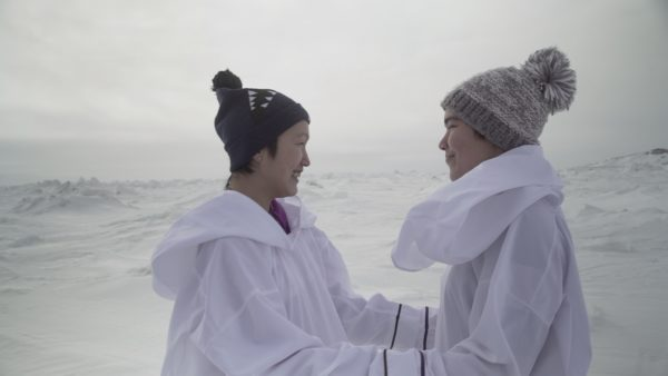 Still from Katatjatuuk Kangirsumi - Photo by Manon Chamberland & Eva Kaukai, Wapikoni Mobile