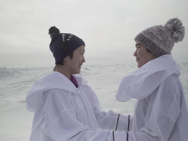 Still from Katatjatuuk Kangirsumi - Picture by Manon Chamberland & Eva Kaukai, Wapikoni Mobile